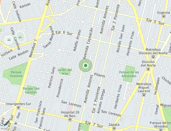 Peta lokasi Residencial DIEZ-44