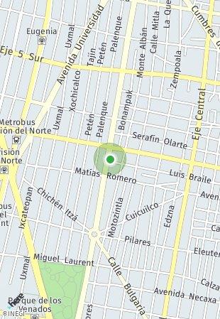 Peta lokasi Vertiz 1158