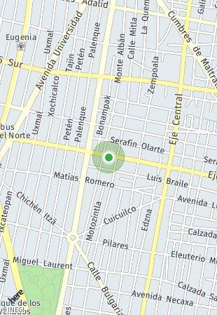 Peta lokasi Spacios AU