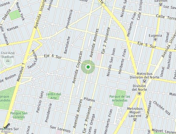 Peta lokasi Amores 1009