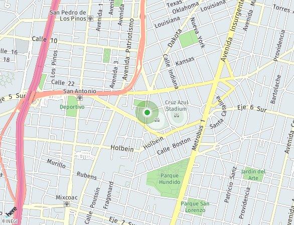 Peta lokasi San Antonio 88