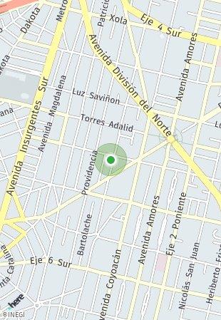 Peta lokasi Adolfo Prieto 805