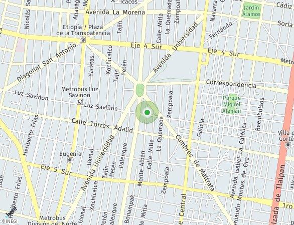 Peta lokasi Monte Alban 214