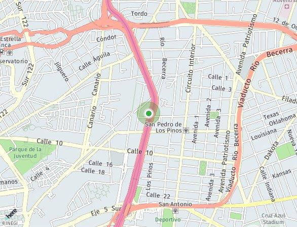 Peta lokasi Periferico 180