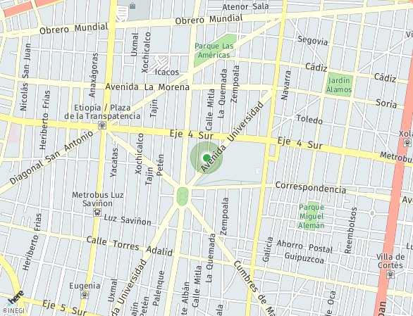 Peta lokasi Mitla 157