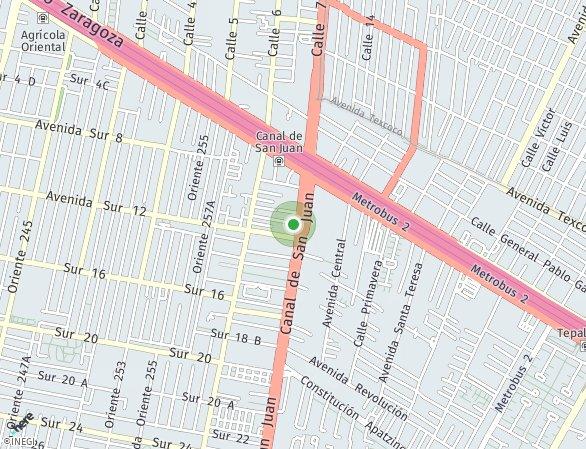 Peta lokasi Canal De San Juan
