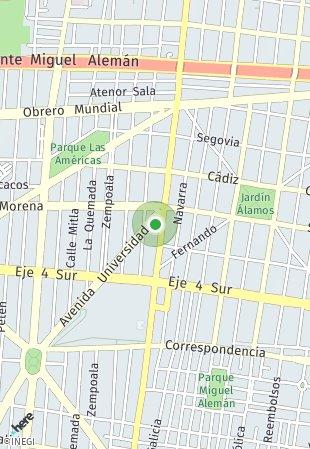 Peta lokasi Universidad 509