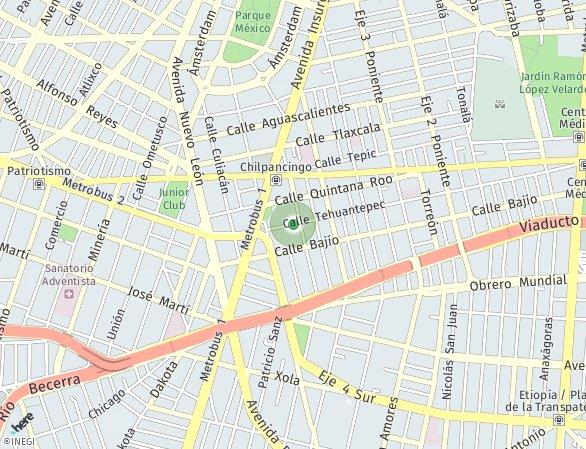 Peta lokasi Tehuantepec 236