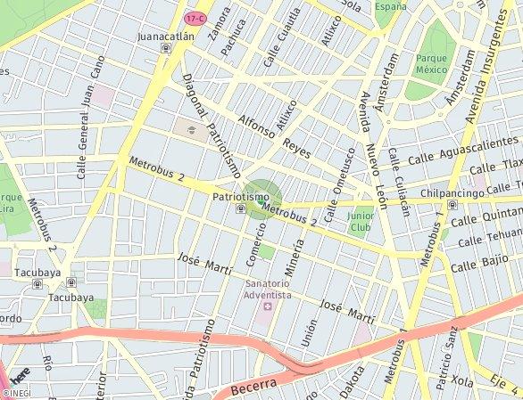 Peta lokasi Benjamin Franklin 117