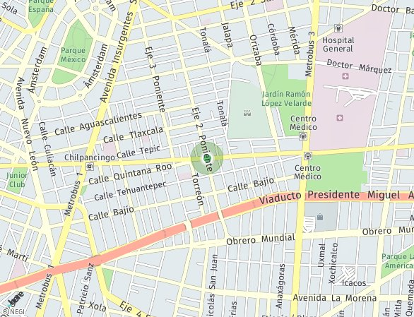 Peta lokasi Casa Roma