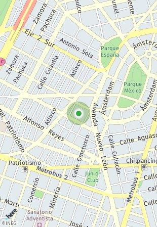 Peta lokasi Cholula 17