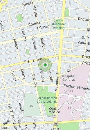 Peta lokasi San Luis Potosí 44