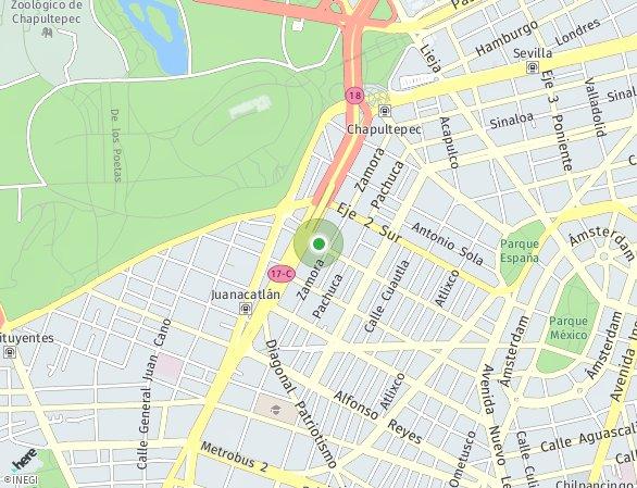Peta lokasi M. OCA Condesa