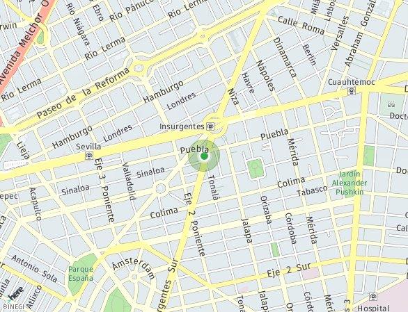 Peta lokasi Icon Roma Club