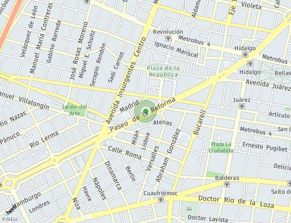 Peta lokasi Be Grand® Reforma