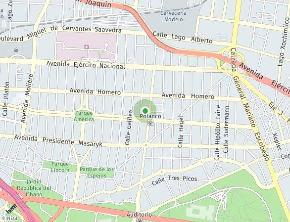 Peta lokasi Arquímedes 138