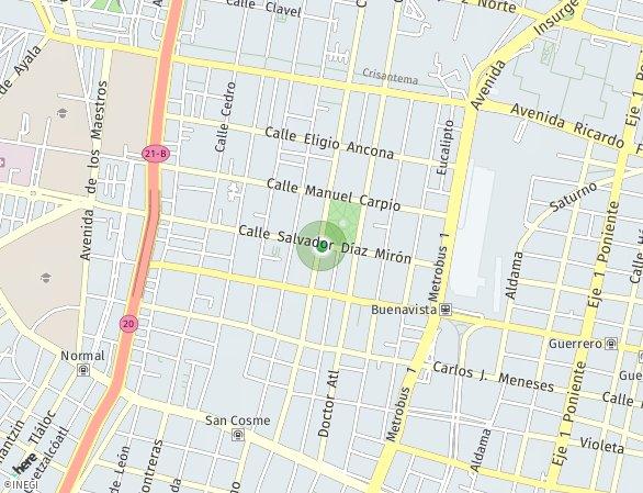 Peta lokasi LIFE Santa María