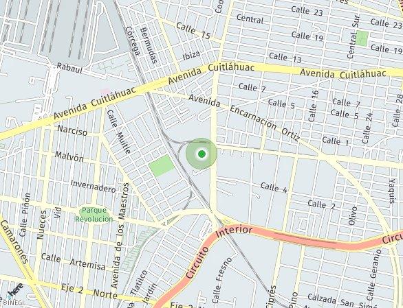 Peta lokasi Parque Jardín