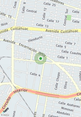 Peta lokasi Enksa Azcapotzalco