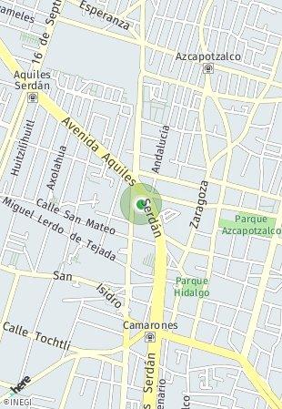 Peta lokasi Torre Aquiles Azcapotzalco
