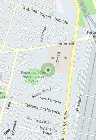 Peta lokasi Garden Azcapotzalco