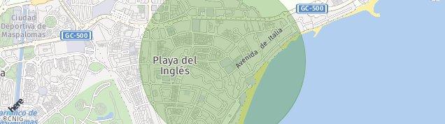 Mapa Playa del Ingles
