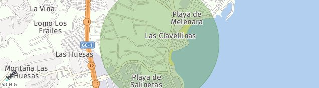 Mapa Playa de Melenara