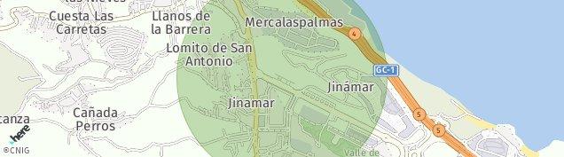 Mapa Valle de Jinamar