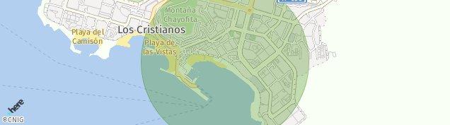 Mapa Playa de Los Cristianos