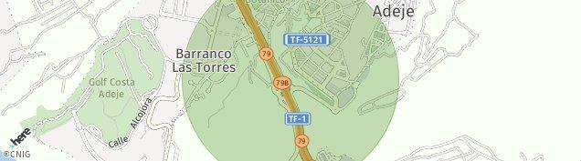 Mapa Adeje Casco