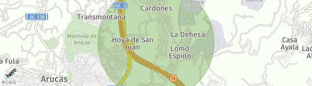 Mapa Arucas