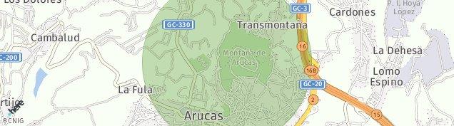 Mapa Montaña de Arucas
