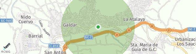 Mapa Gáldar