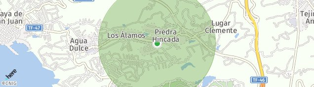 Mapa Piedra Hincada