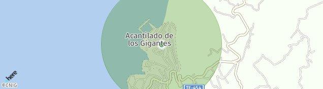 Mapa Acantilados de Los Gigantes