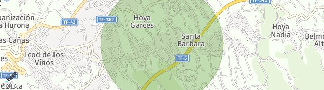 Mapa Santa Bárbara de Tenerife