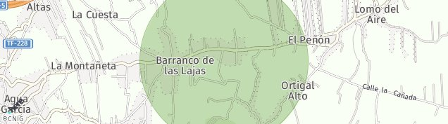 Mapa Barranco de Las Lajas