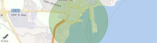 Mapa Puerto del Rosario