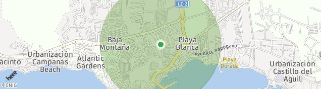 Mapa Playa Blanca
