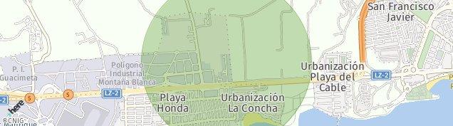 Mapa Playa Honda
