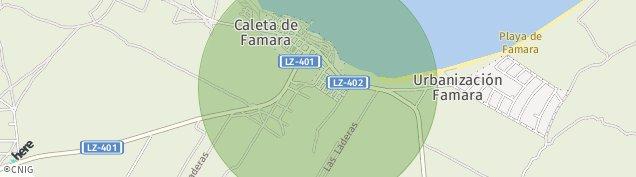 Mapa Caleta de Famara
