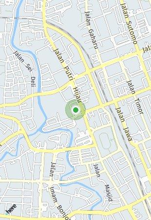 Peta lokasi Podomoro City Deli Medan