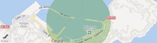 Mapa Ceuta