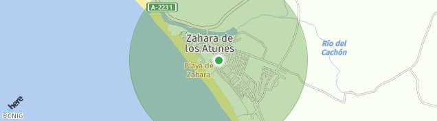 Mapa Zahara de Los Atunes