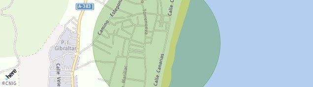 Mapa Zabal Bajo