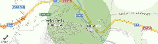 Mapa Vejer de la Frontera