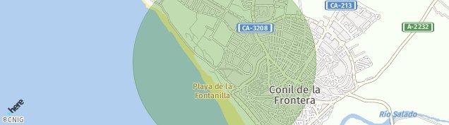 Mapa Conil de la Frontera