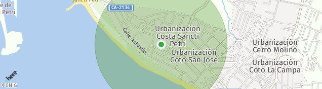Mapa La Barrosa