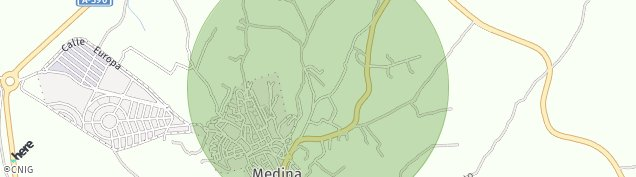 Mapa Medina-Sidonia
