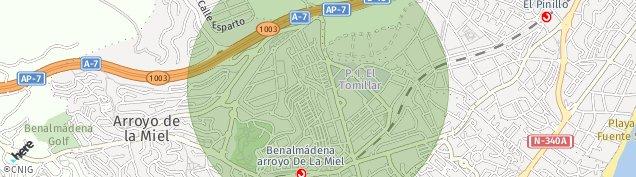 Mapa Arroyo de La Miel